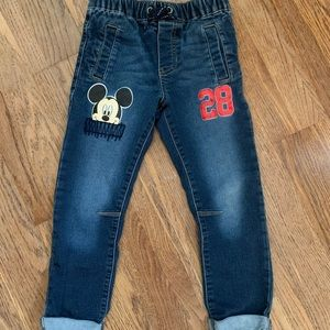 Disney Mickey Mouse Pull On Jeans, 5T